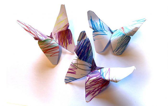 ACC040_Getekende papieren vlinders